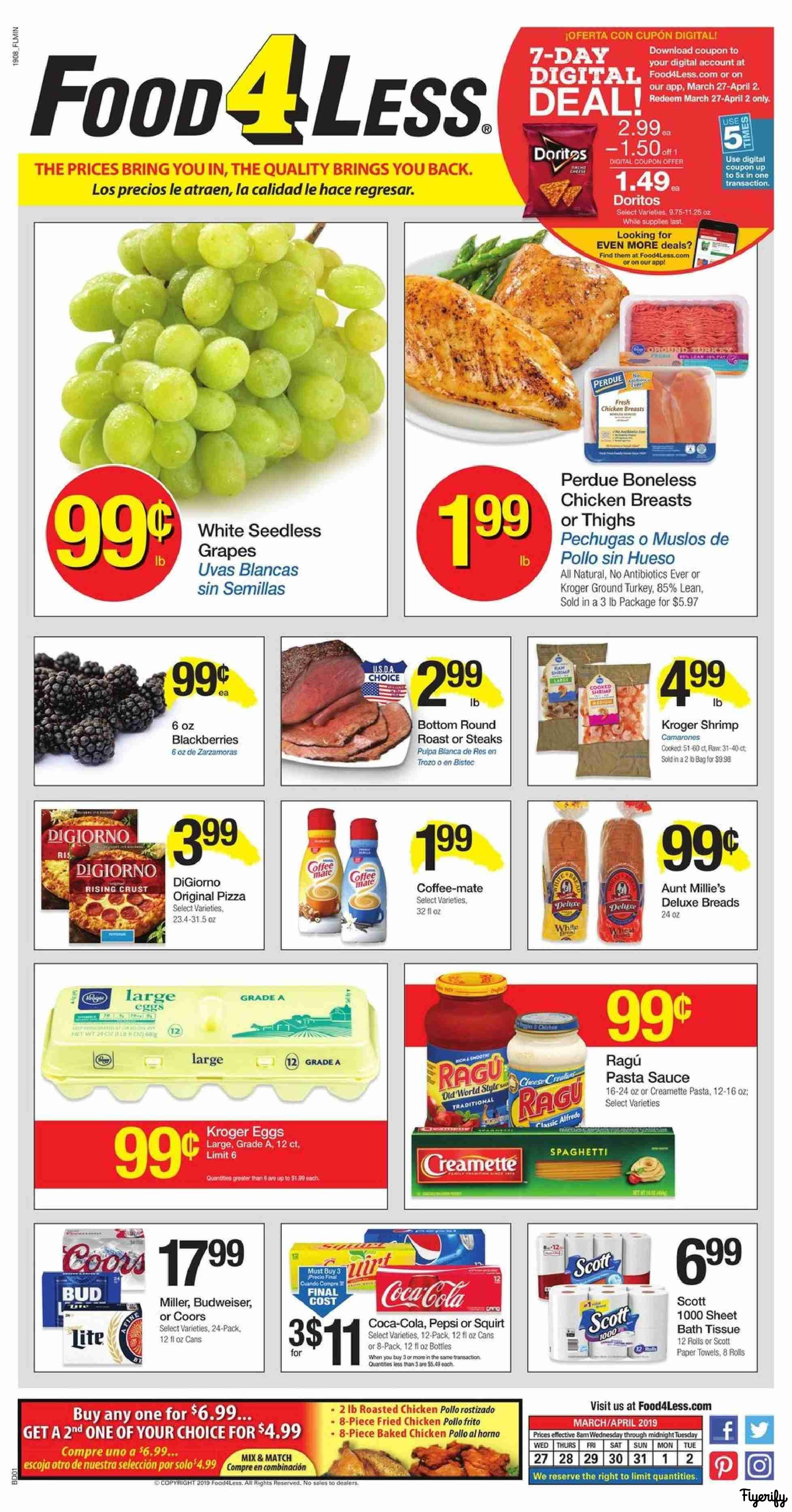 91006b17975 Food 4 Less (IN - Hammond) Weekly Ad   Flyer March 27 to April 2