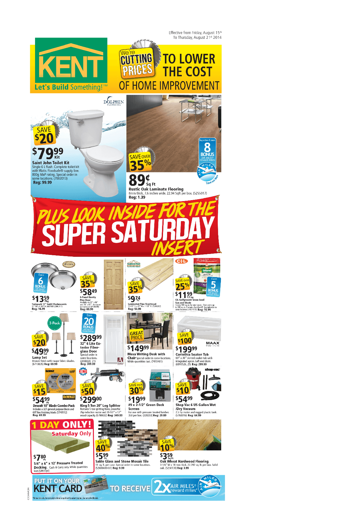 Kent Flyer August 15 To August 21 Canada