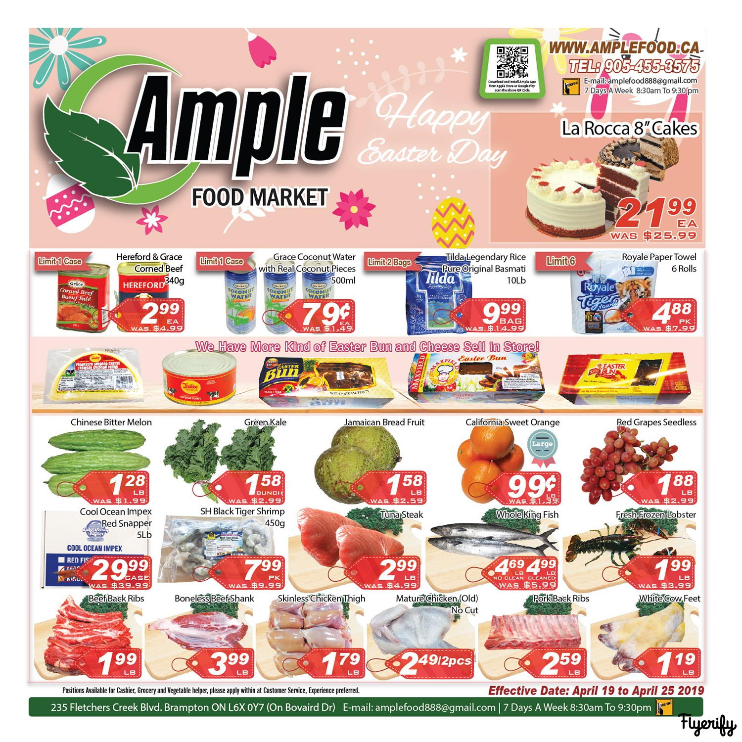 ample food market flyer april 19 to 25 canada