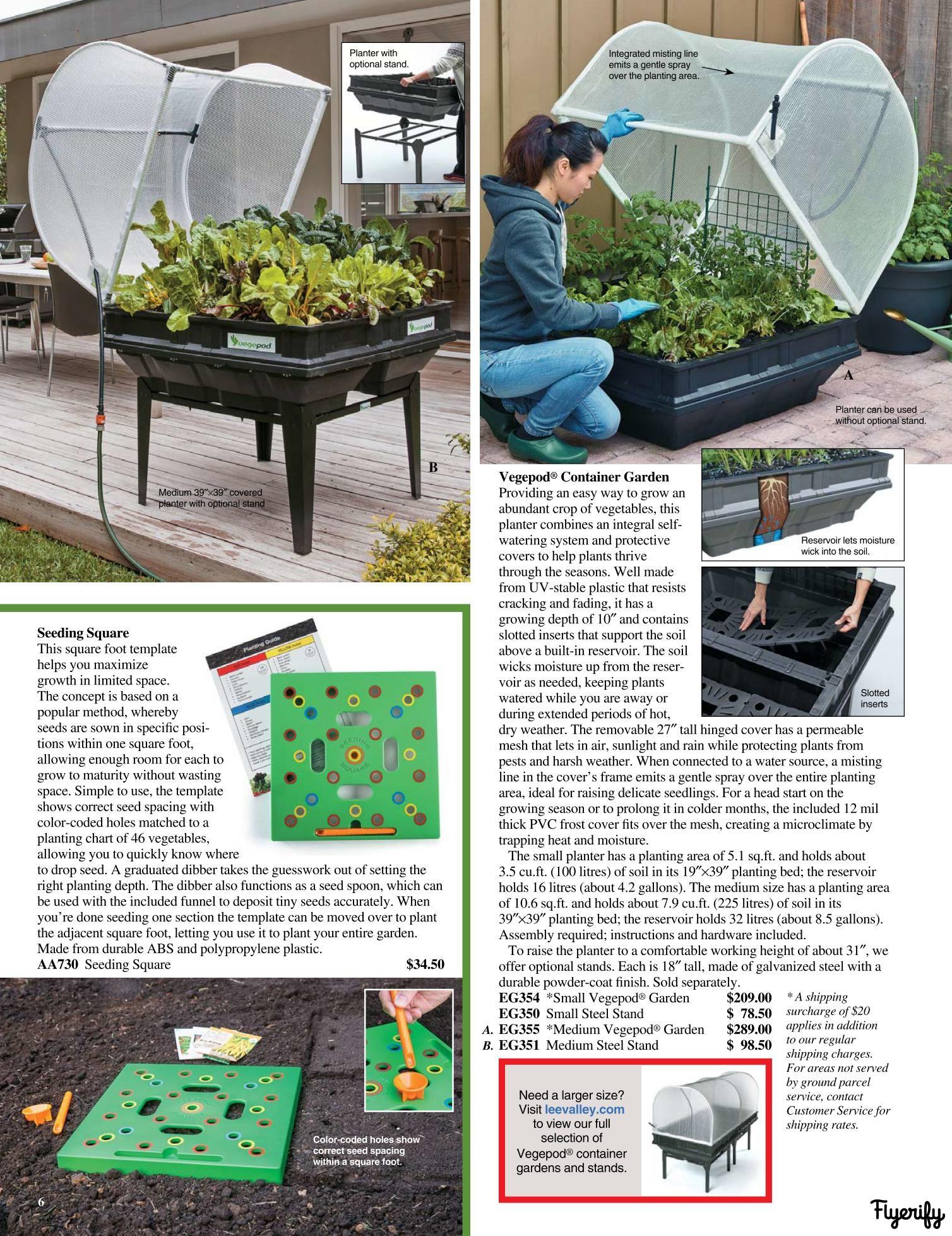 Lee Valley Spring Garden Catalogue 2019 Canada