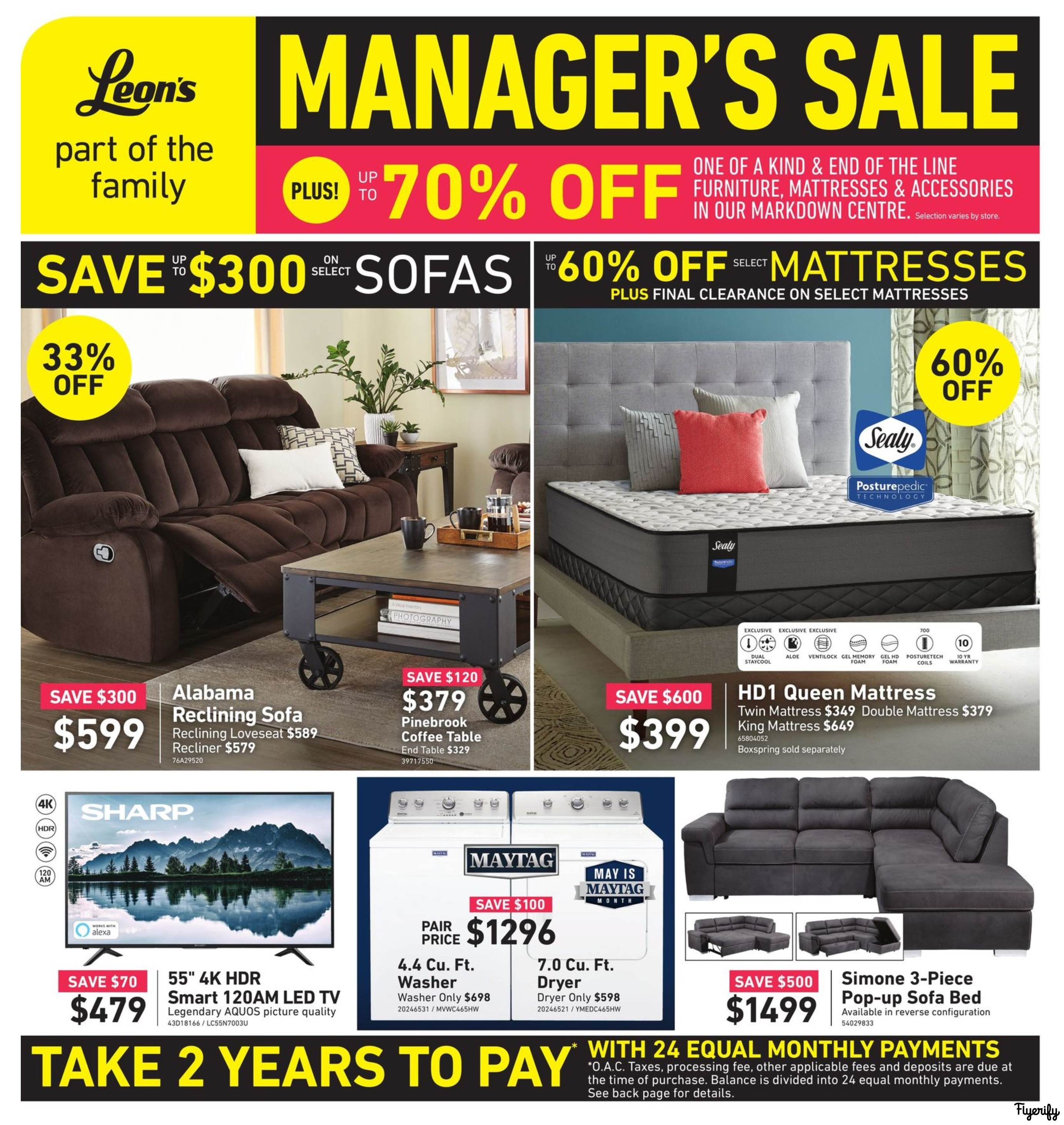 e465aabf2 Leon's Manager's Sale Flyer May 17 to 29