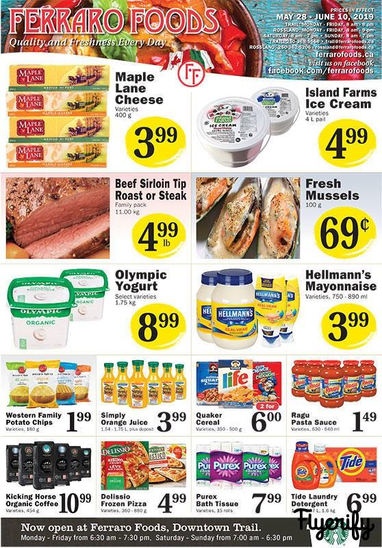 Ferraro Foods Flyer May 28 to June 10 Canada