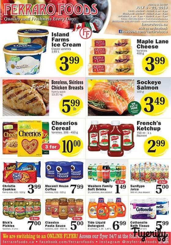 Ferraro Foods Flyer July 10 to 22 Canada
