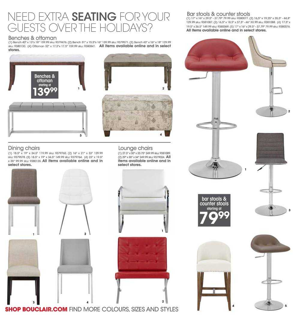Marvelous Bouclair Flyer October 29 To November 4 Canada Gmtry Best Dining Table And Chair Ideas Images Gmtryco