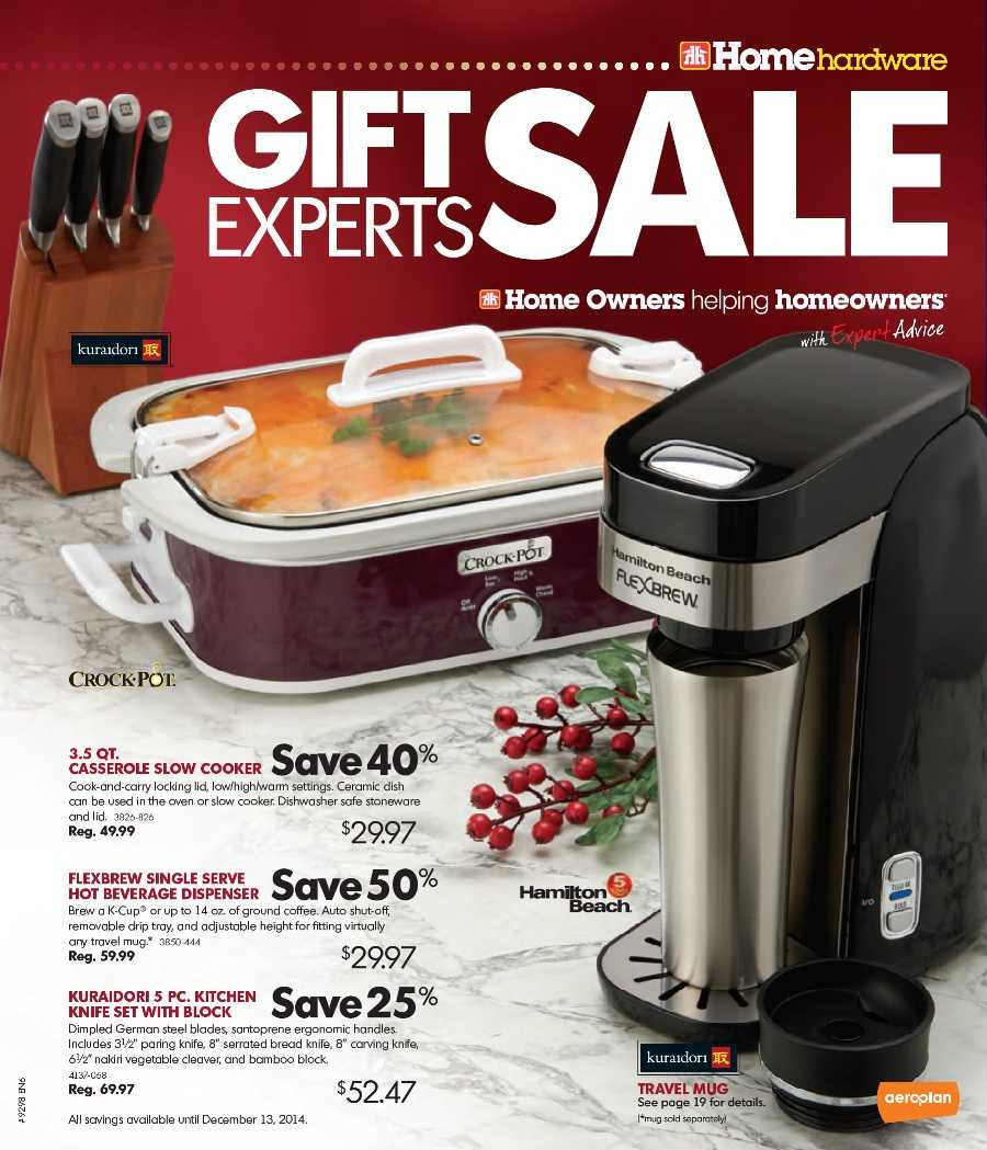 Uncategorized Home Hardware Kitchen Appliances home hardware gift catalogue october 28 to december 13 canada next