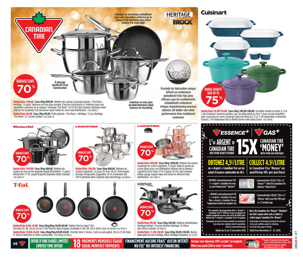 Canadian Tire (QC) flyer November 21 to 27 Canada