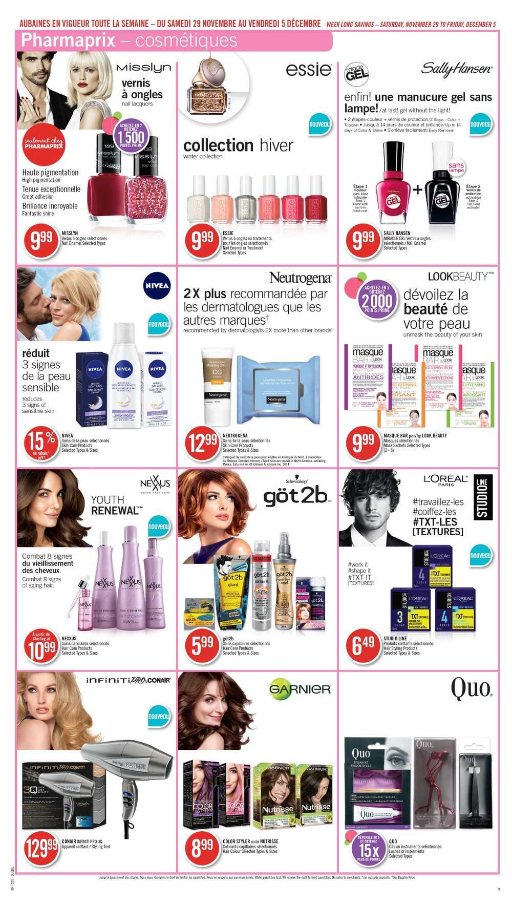 Shoppers Drug Mart Qc Flyer November 29 To December 5 Canada