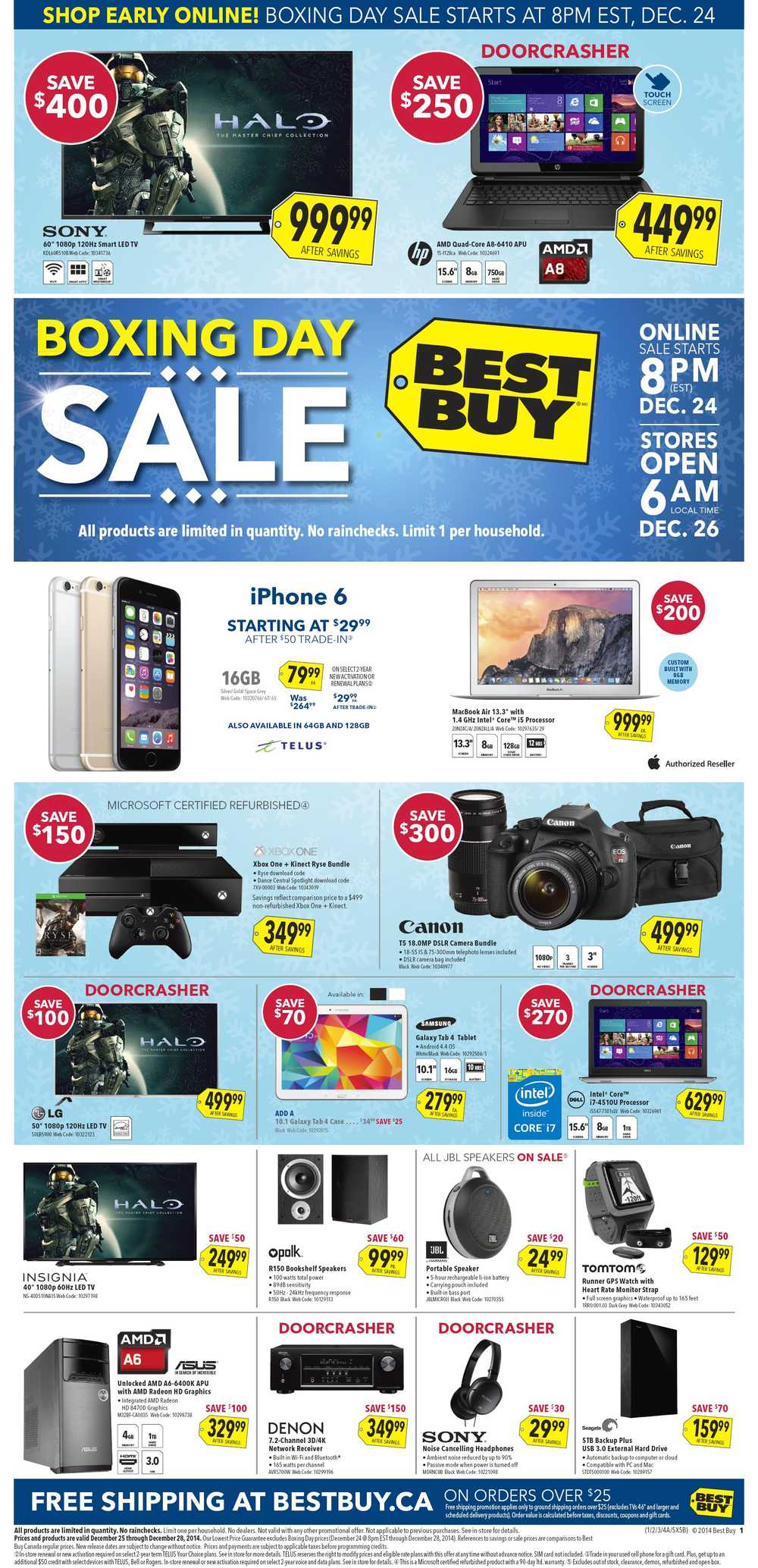 Cell phone deals canada boxing day