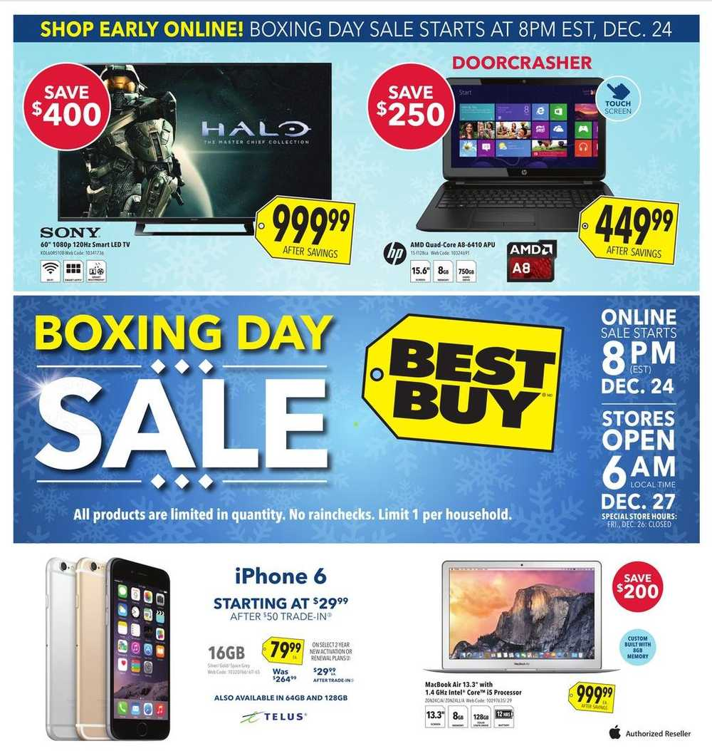 Best Buy Atlantic Boxing Day 2014 Flyer Sales And Deals Canada