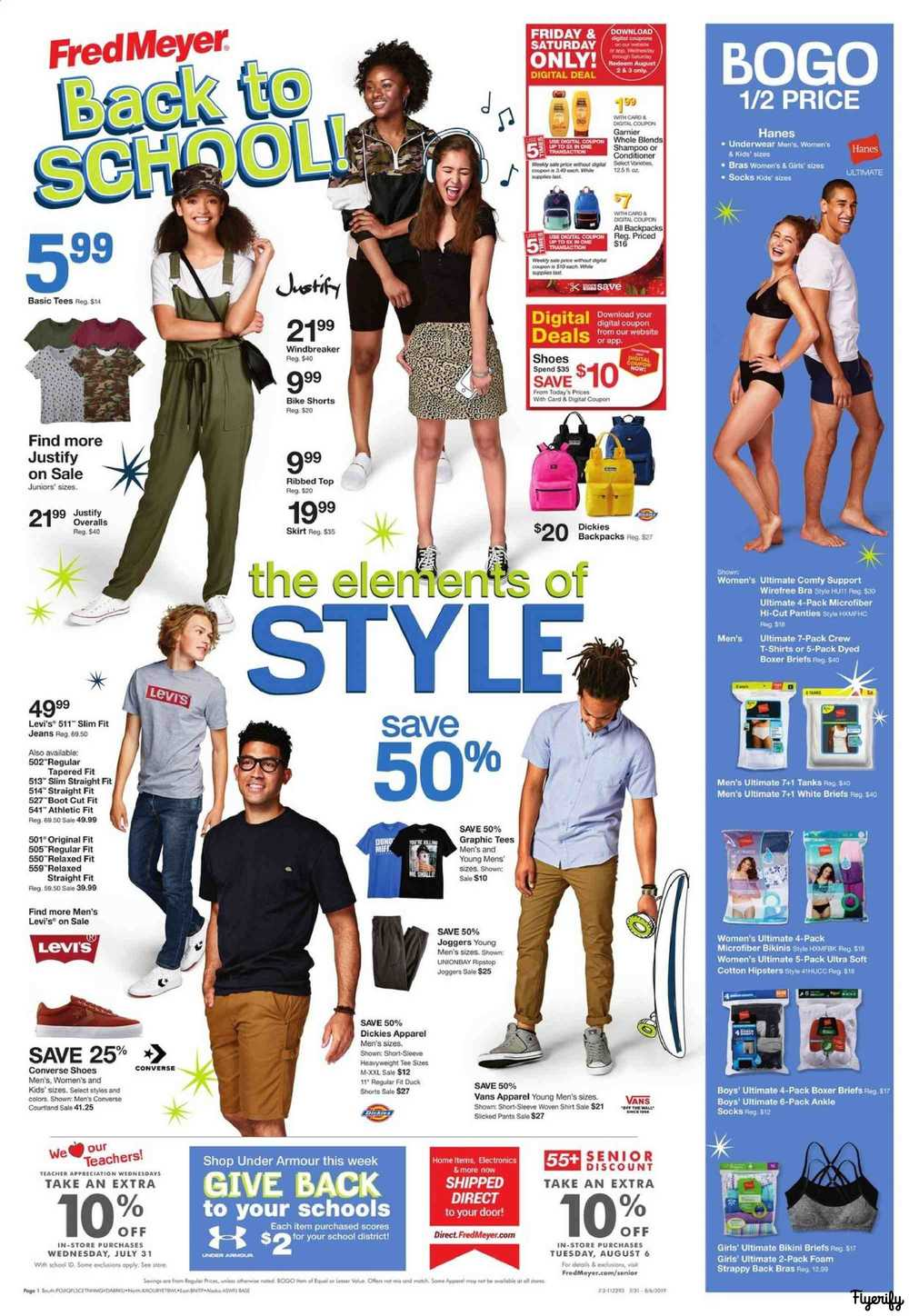 Fred Meyer Weekly Ad & Flyer July 31 to August 6 Canada