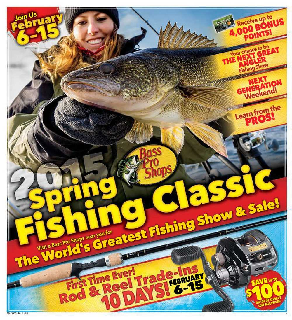 Bass pro shops flyer february 6 to 15 canada for Bass pro shop fishing license