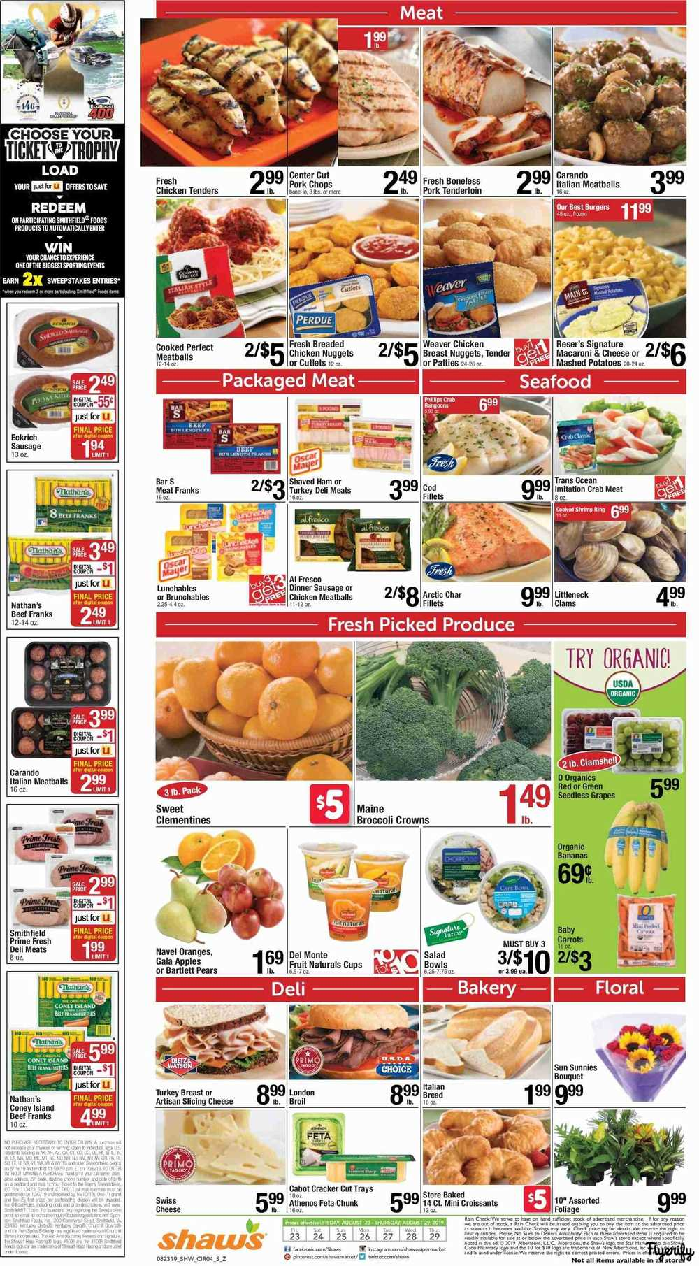 Shaw's Weekly Ad & Flyer August 23 to 29 Canada