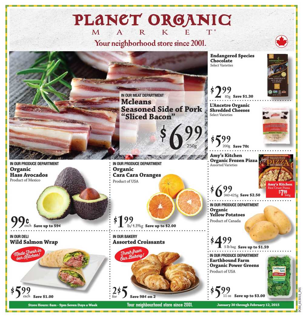 planet organic marketing report This market wants you to feel good about eating their products their meat products are hormone-free, they carry a huge assortment of organic products and they even have environmentally-conscious cleaning products.