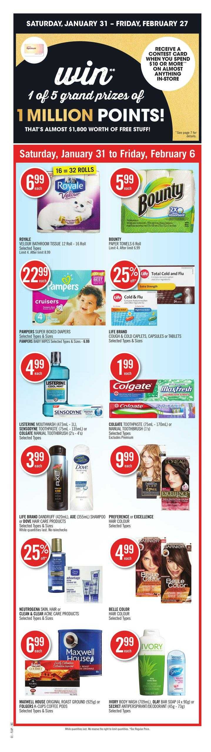 Shoppers Drug Mart West Flyer January 31 To February 6 Canada