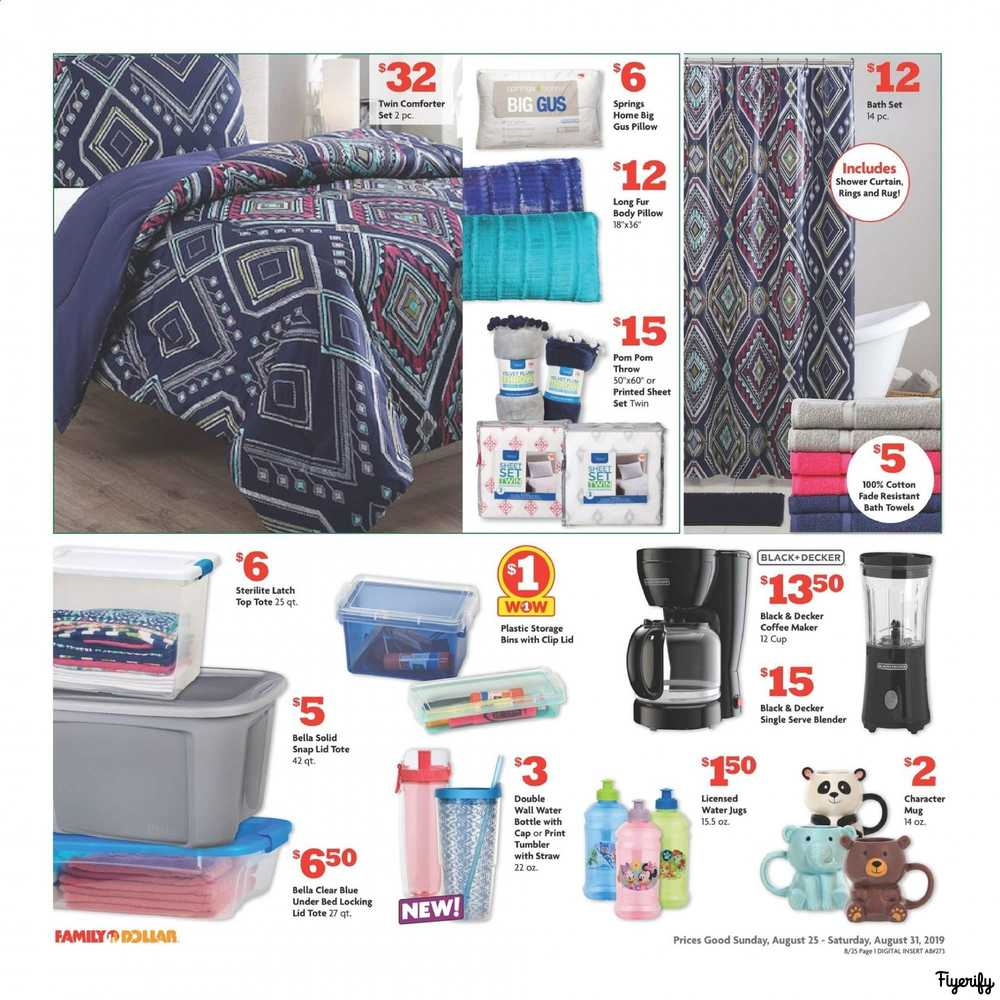 Family Dollar Weekly Ad & Flyer August 25 to 31 Canada