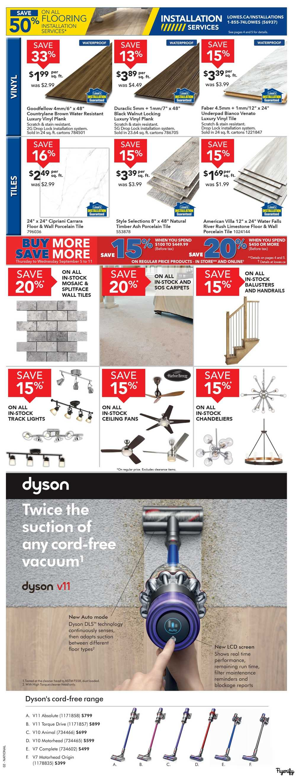 Lowe's Flyer September 5 to 11 Canada