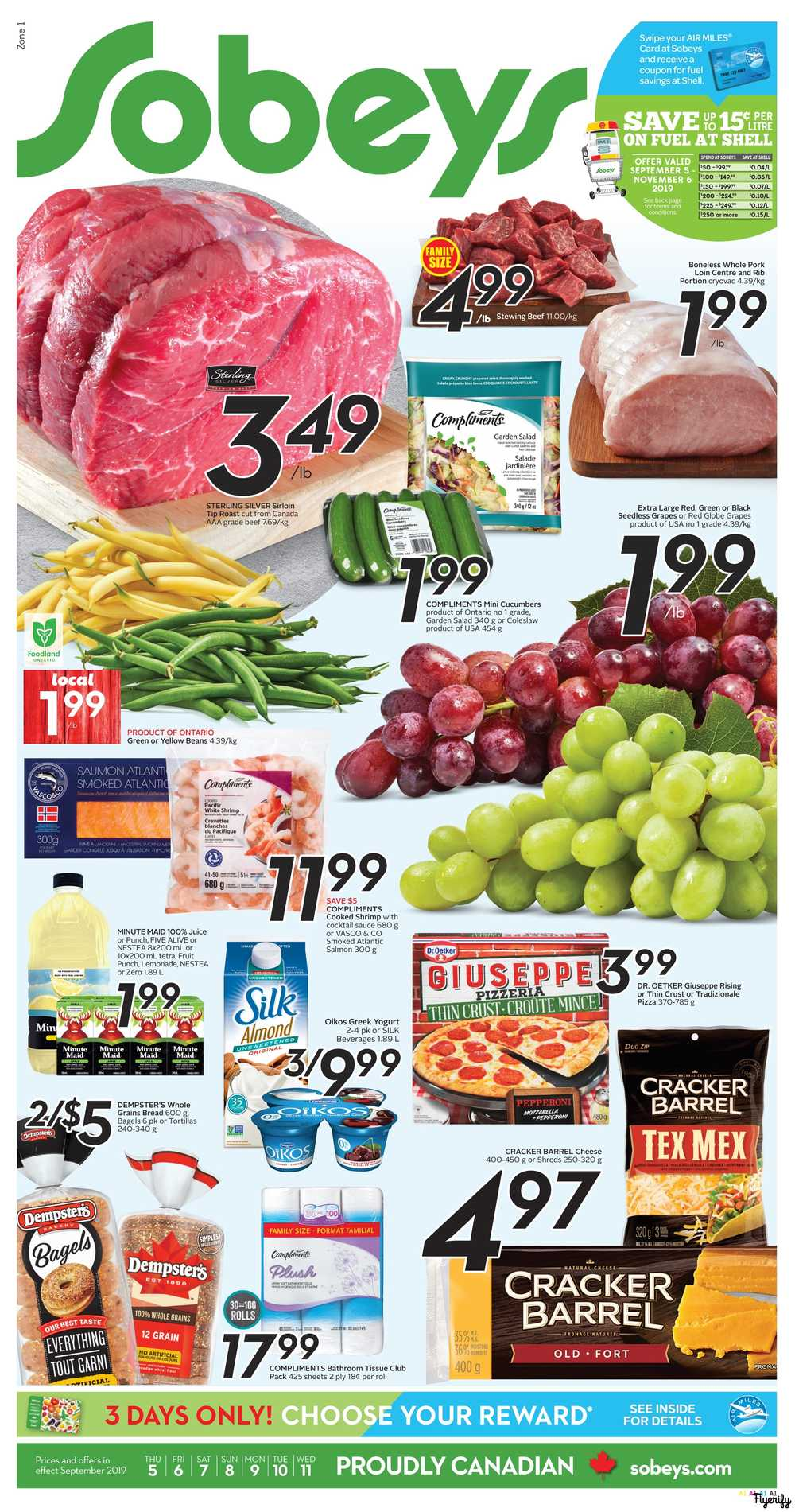Sobeys (ON) Flyer September 5 to 11 Canada