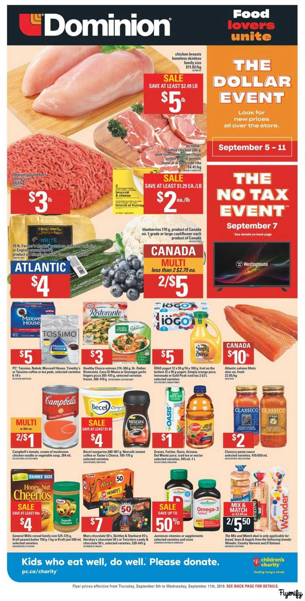 Dominion Flyer September 5 to 11 Canada