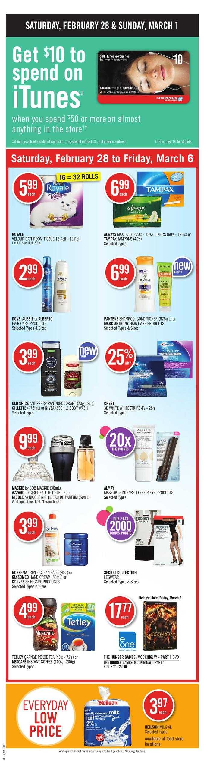 Shoppers Drug Mart (ON) Flyer February 28 to March 6 Canada
