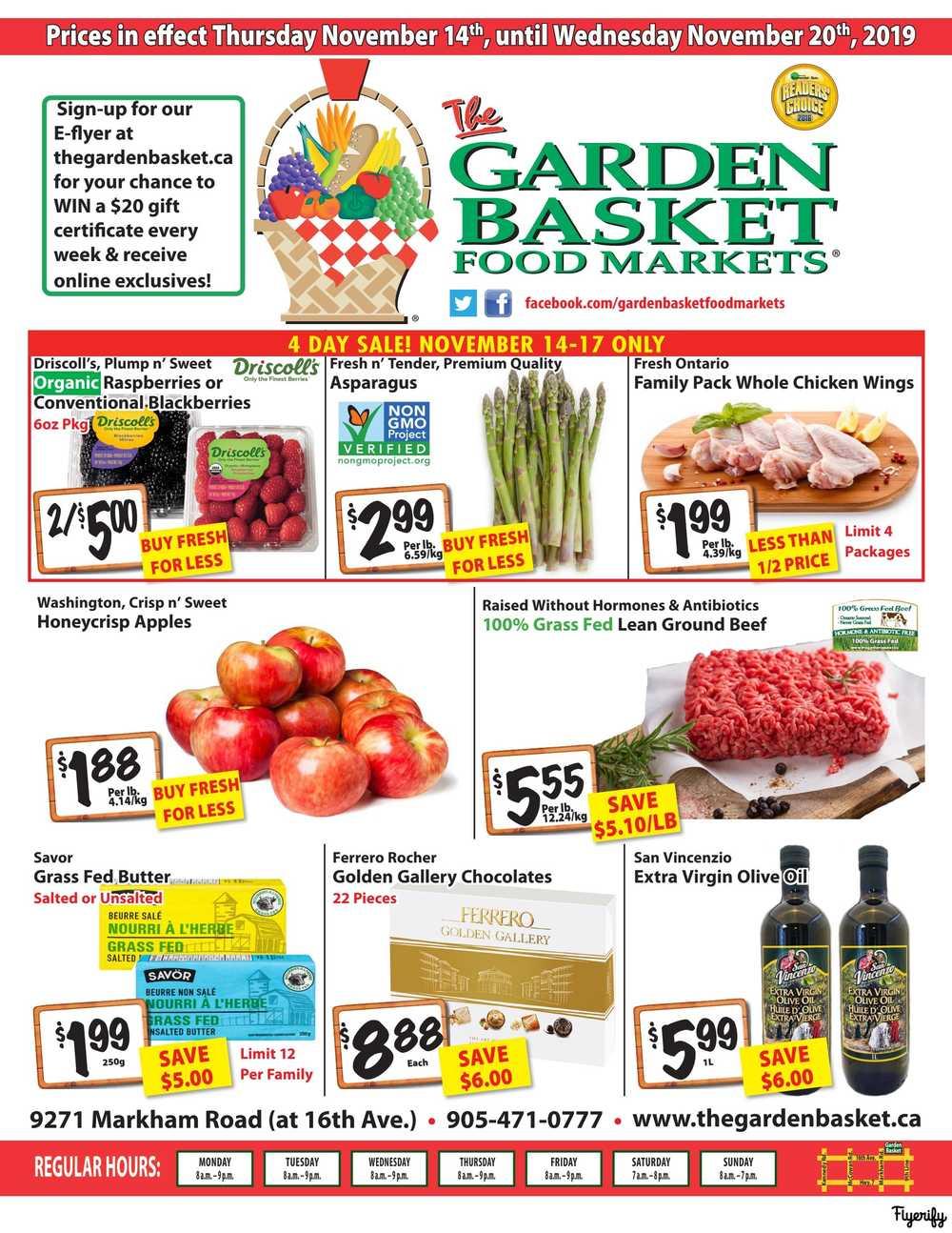 the garden basket flyer november 14 to 20 canada