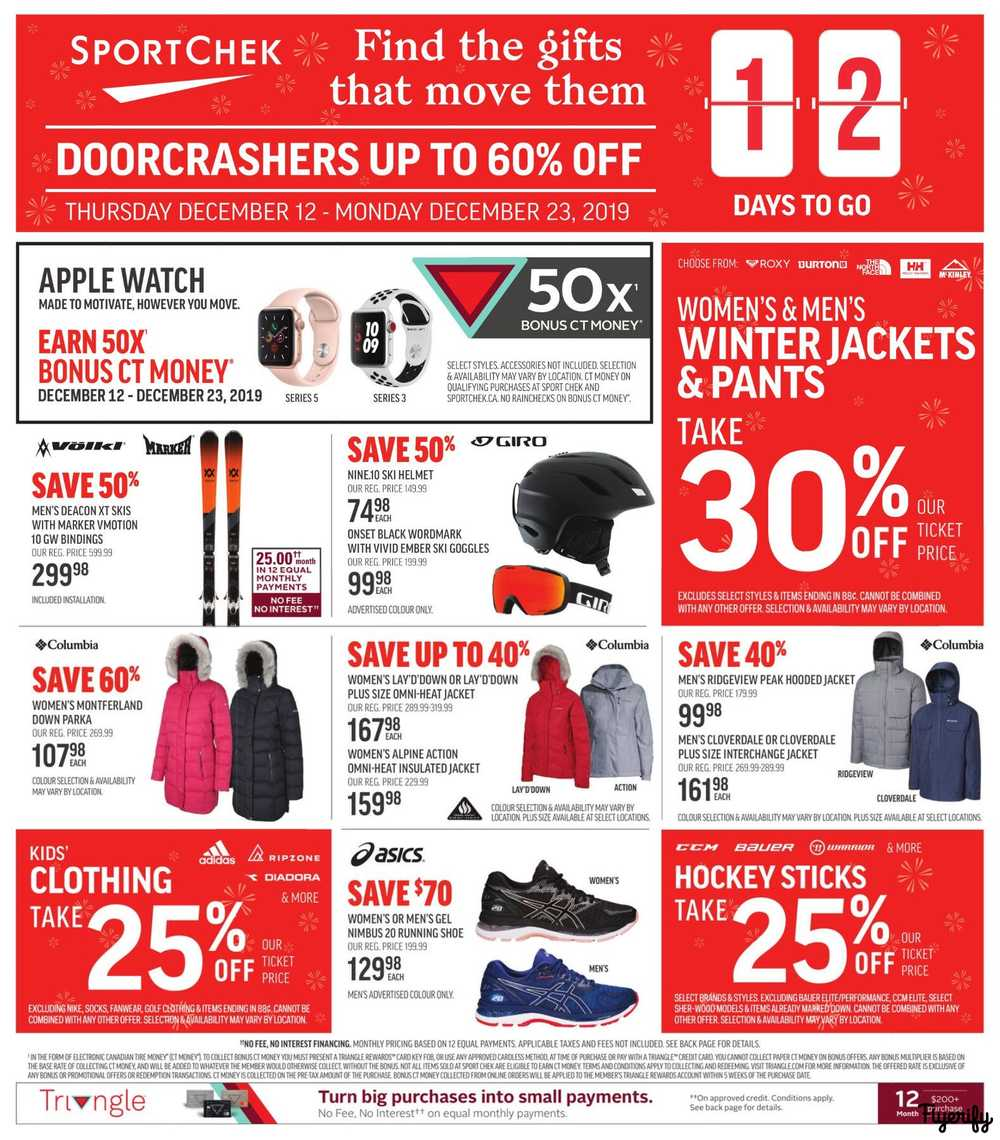 Sport Chek Flyer December 12 To 23 Canada
