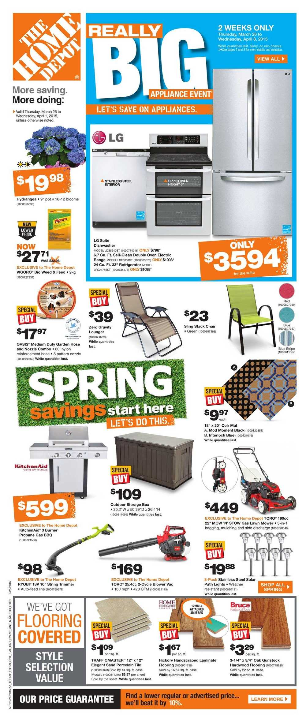 Home depot on flyer march 26 to april 1 canada for 1 home depot