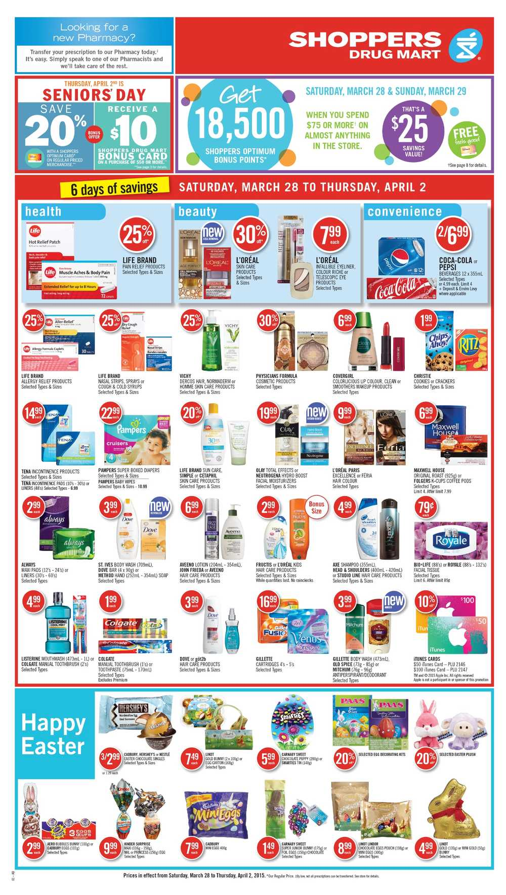 Shoppers Drug Mart (West) Flyer March 28 to April 2 Canada