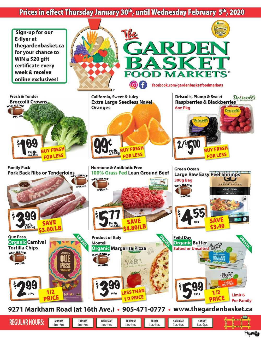 the garden basket flyer january 30 to february 5 canada