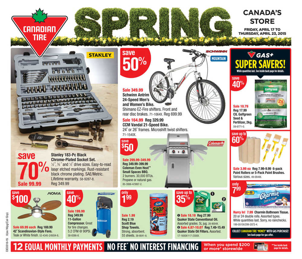 Canadian Tire On Flyer April 17 To 23 Canada