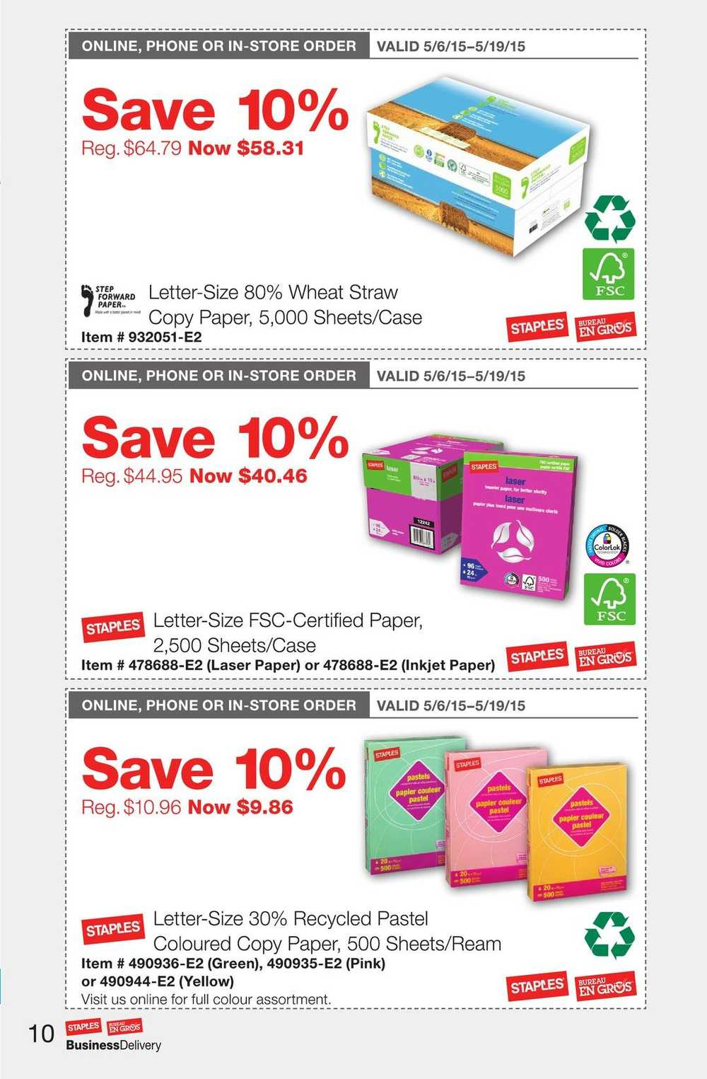 Staples Business Delivery Flyer May 6 To 19 Canada