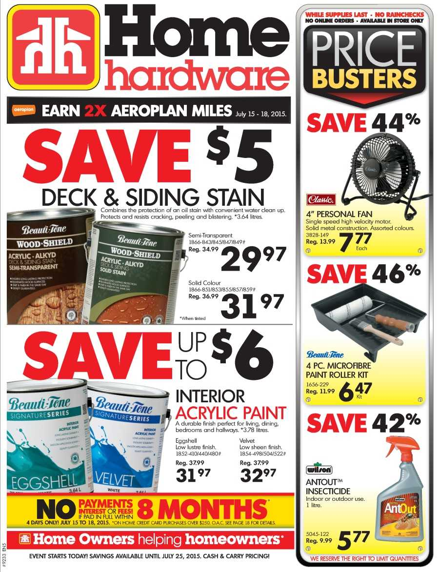 Home Hardware Foyer : Home hardware flyers