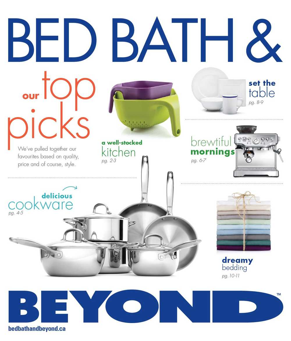 The Bath Beyond: Bed Bath And Beyond August Circular Canada