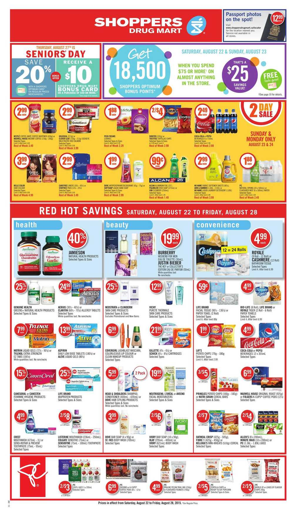 Shoppers Drug Mart (ON) Flyer August 22 to 28 Canada