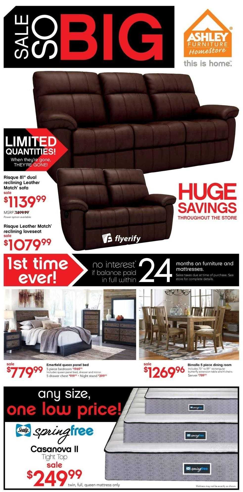 Ashley furniture homestore on flyer august 26 to for Ashley furniture homestore canada