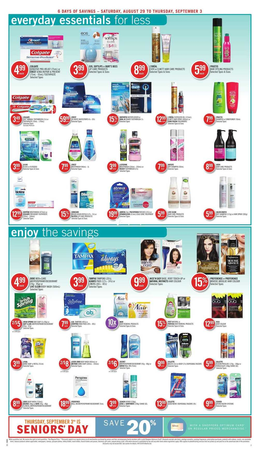 Shoppers Drug Mart (West) Flyer August 29 to September 3 Canada