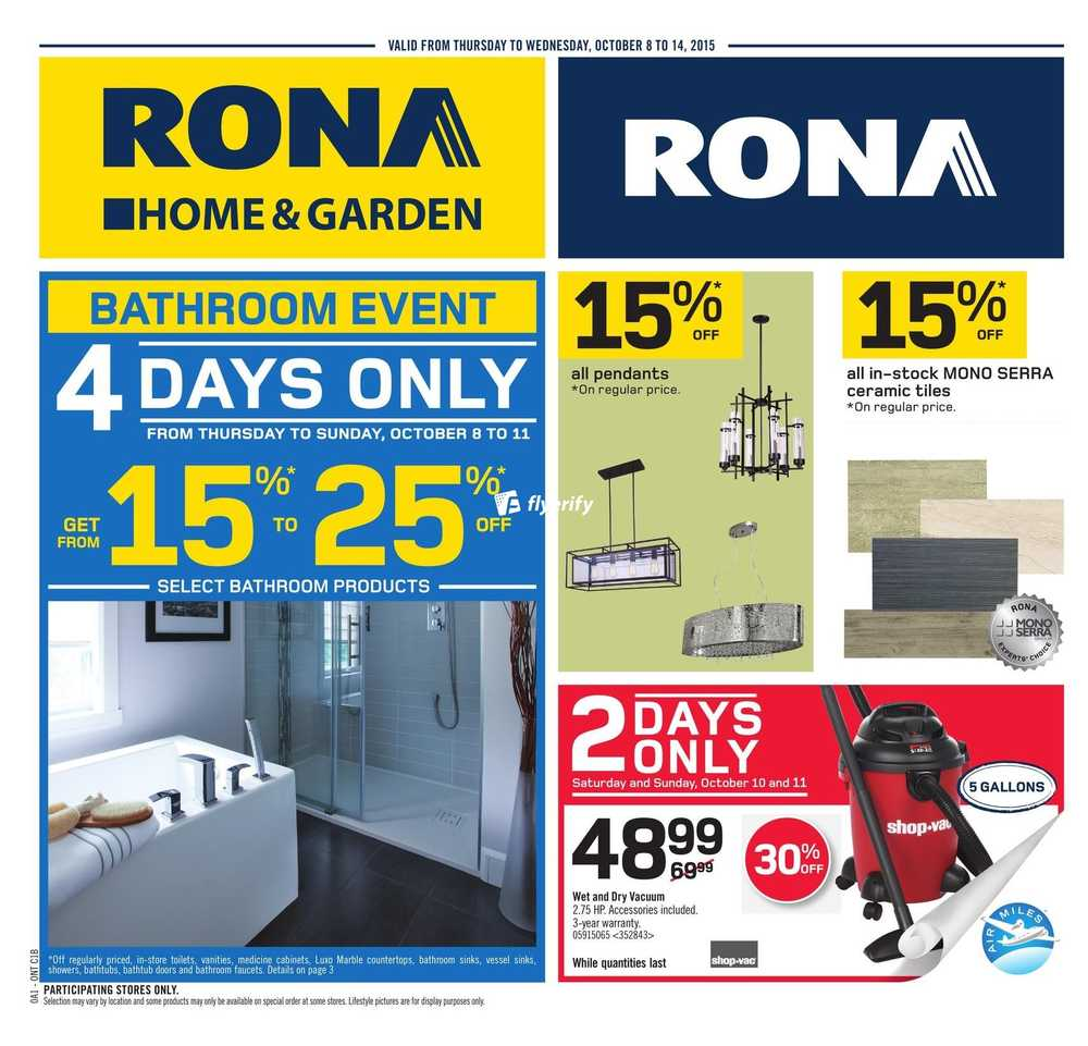 Rona (ON) Flyer October 8 to 14 Canada