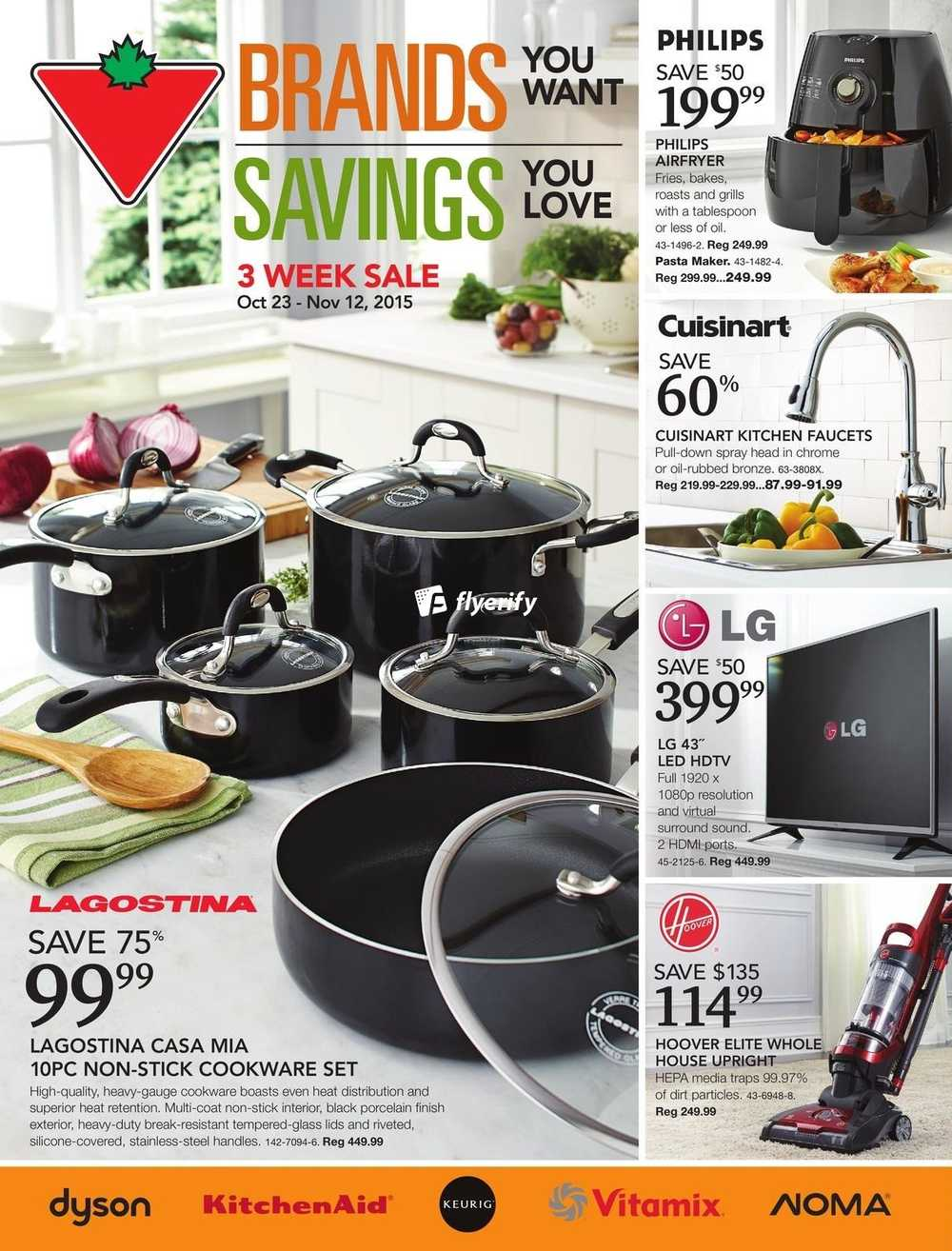 Uncategorized Canadian Tire Kitchen Appliances canadian tire big brands living guide october 23 to november 12 canada next