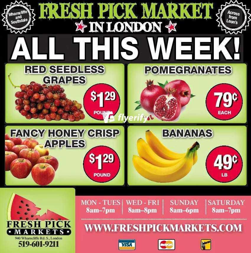 fresh pick markets flyer november 5 to 11