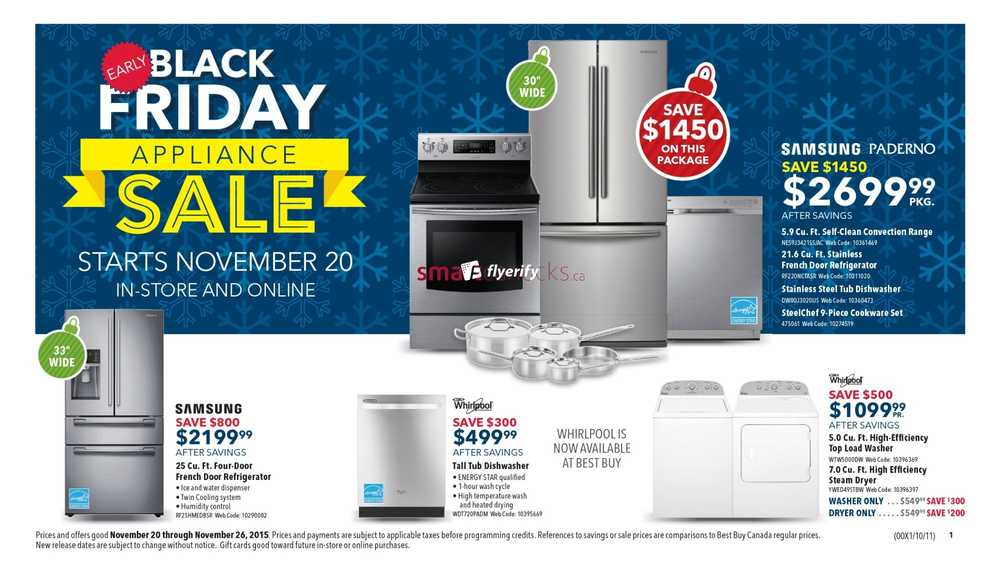 best buy canada early black friday flyer deals 2015 appliance sale canada. Black Bedroom Furniture Sets. Home Design Ideas