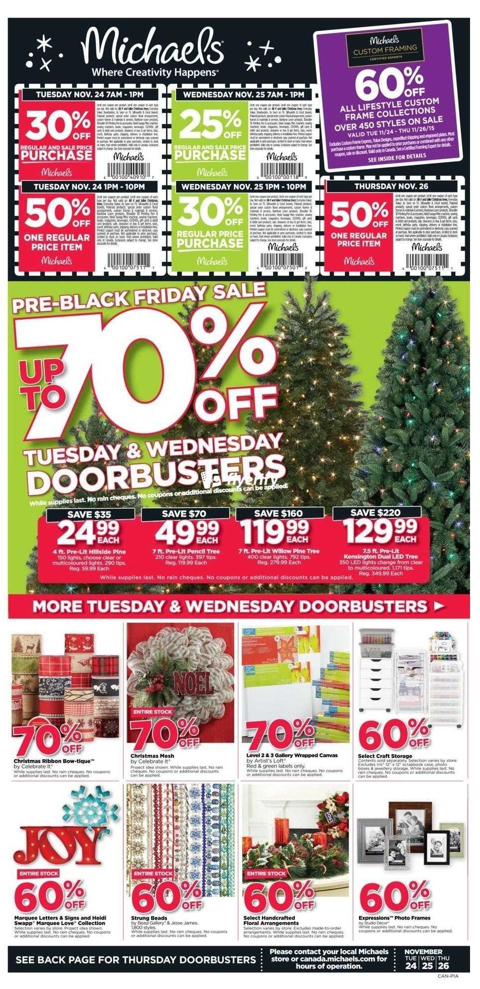 michaels flyer november 24 to 26