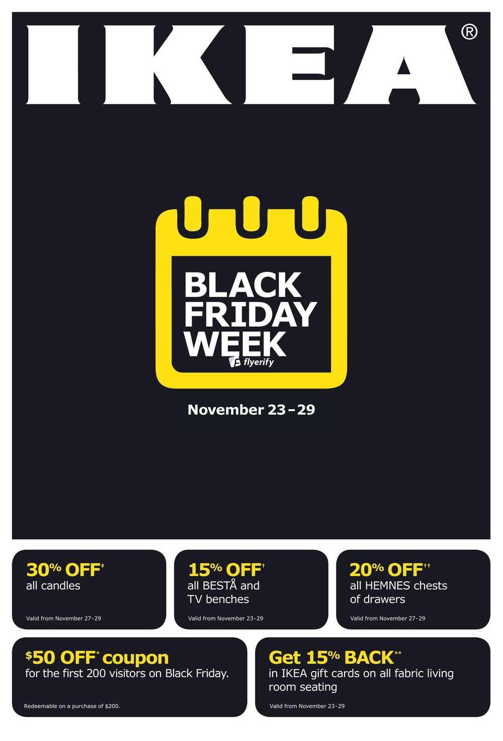 ikea 2015 black friday week flyer november 23 to 29 canada. Black Bedroom Furniture Sets. Home Design Ideas