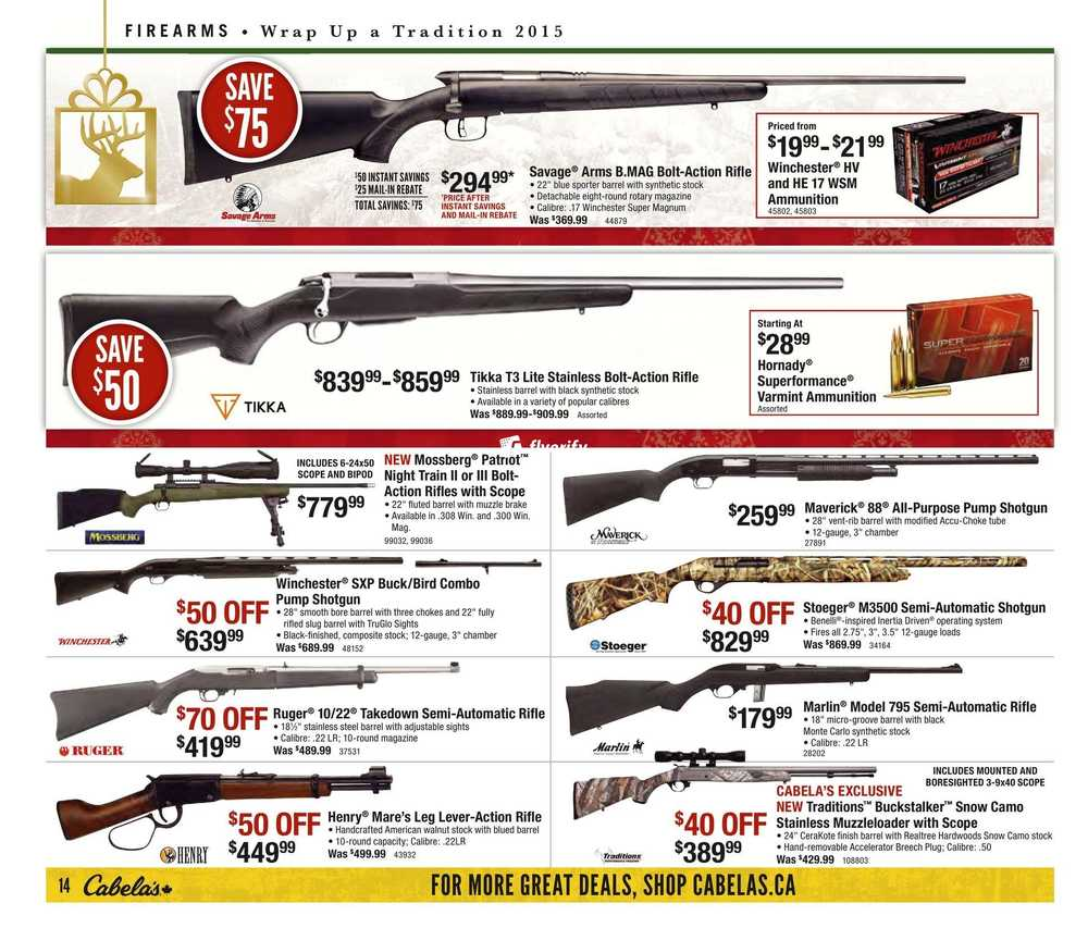 Cabela's Flyer December 17 to 24 Canada