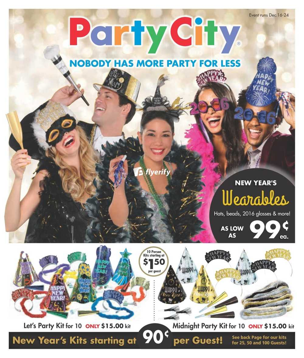 Party City Flyers