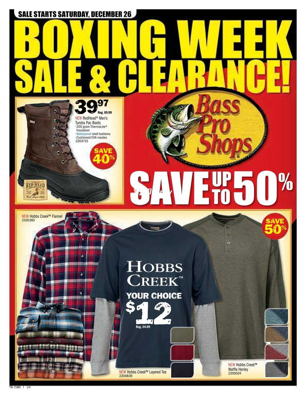 Bass Pro Shops Boxing Week Sale Flyer December 26 To