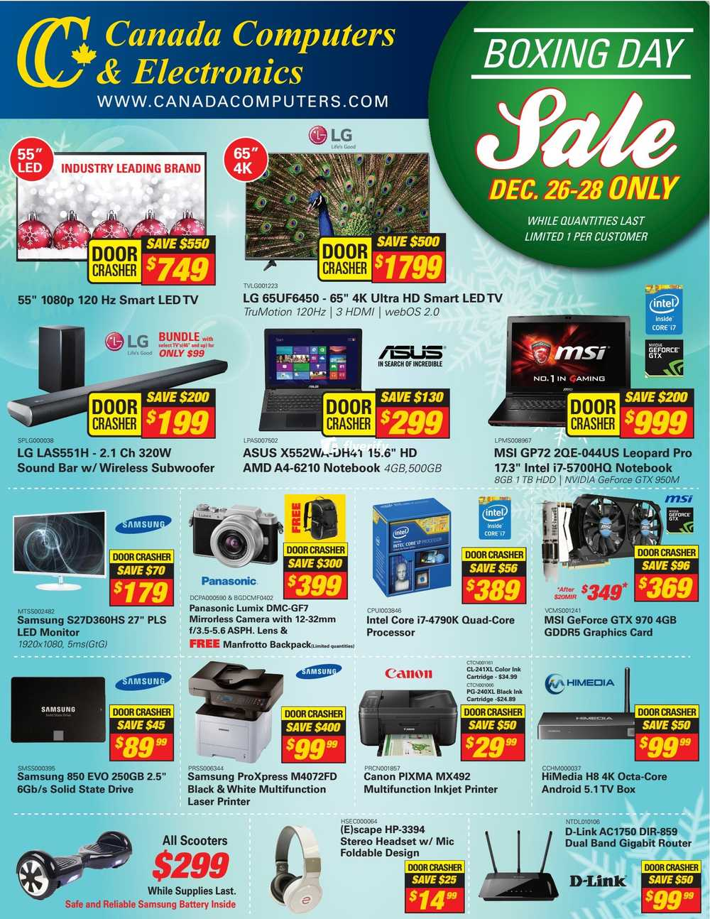 canada computers boxing day sale flyer 2015 canada. Black Bedroom Furniture Sets. Home Design Ideas