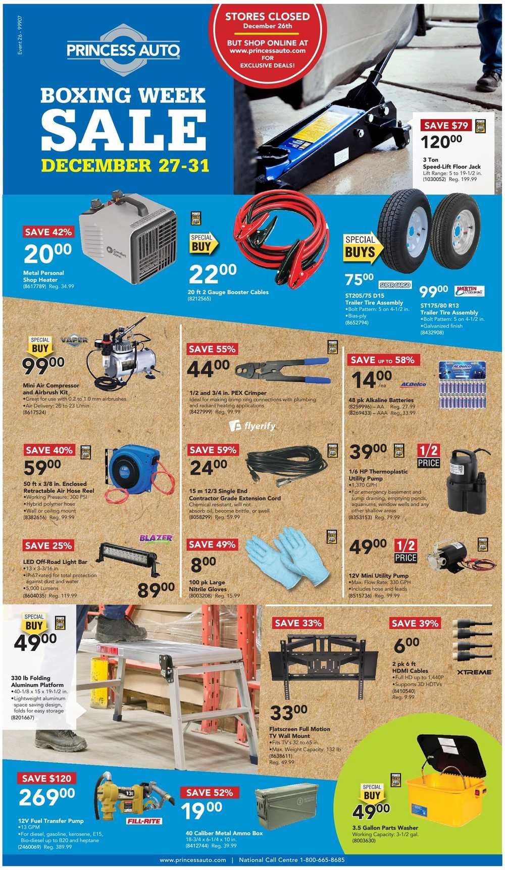 princess auto boxing week flyer december 27 to 31 canada. Black Bedroom Furniture Sets. Home Design Ideas