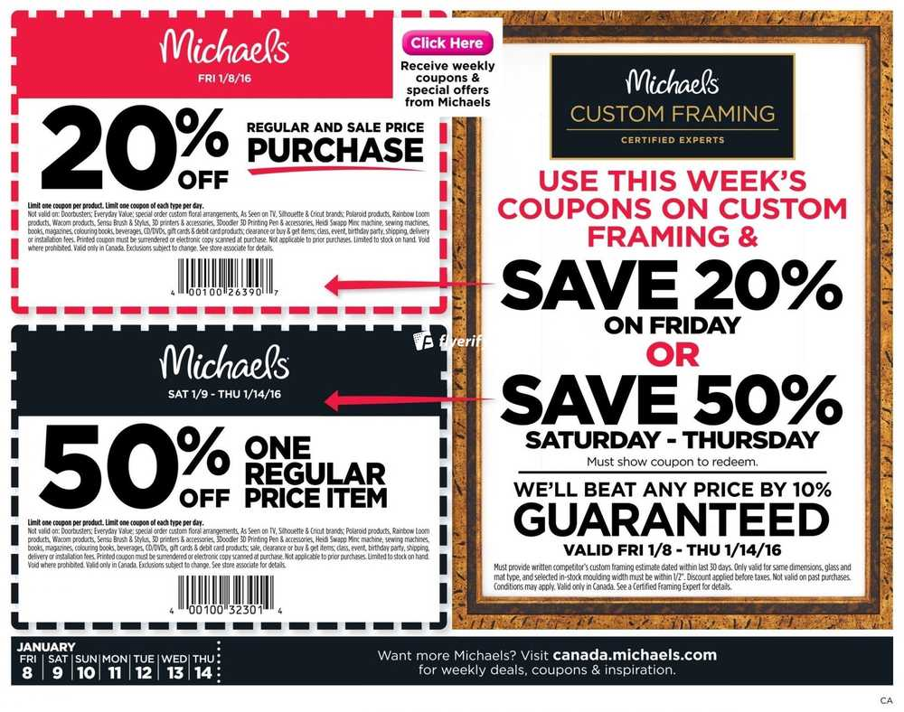 Michaels Flyer January 8 to 14 Canada