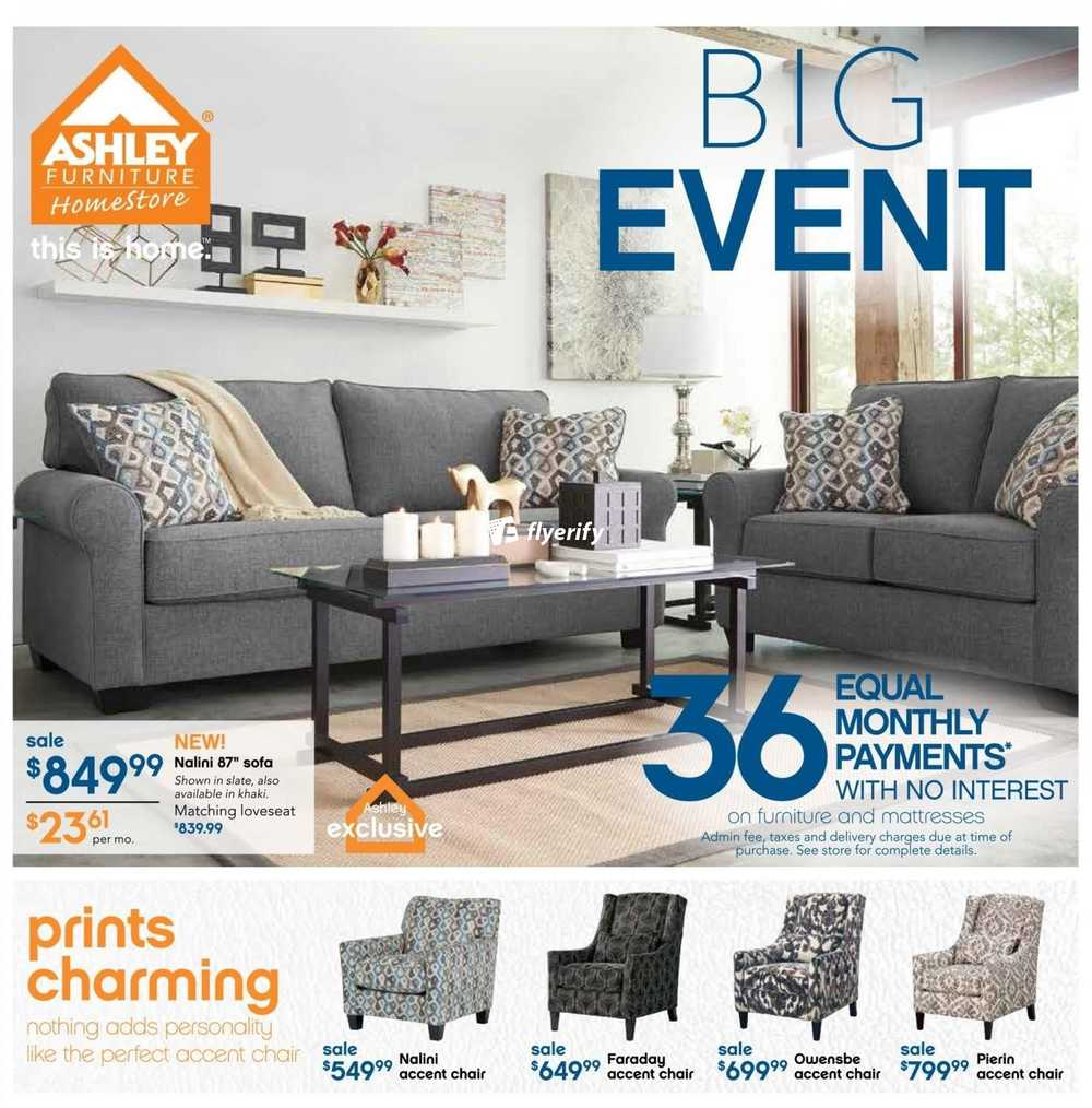 Ashley Furniture Home On Flyer