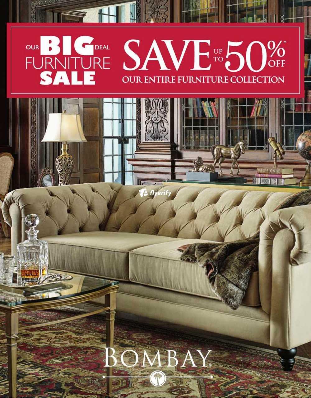 Bombay Furniture Sale Catalogue Canada