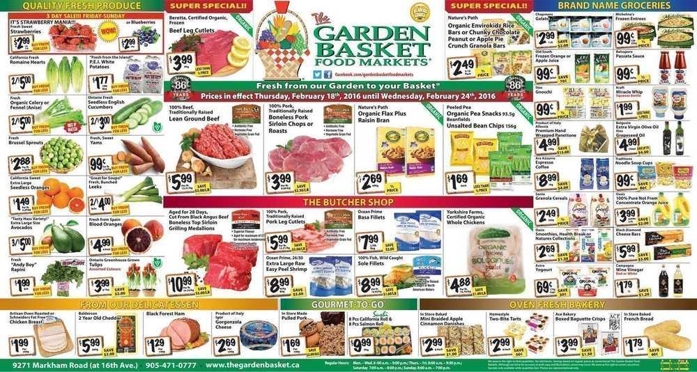the garden basket flyers